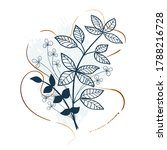 hand drawn texture with leaves...   Shutterstock .eps vector #1788216728