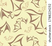 seamless pattern with brown... | Shutterstock .eps vector #1788224252