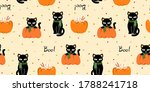 halloween seamless pattern with ... | Shutterstock .eps vector #1788241718