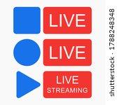 social media live stram vector...