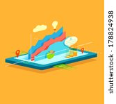 illustration of business graph... | Shutterstock .eps vector #178824938