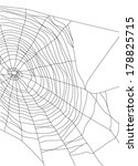 spiders web on white background | Shutterstock .eps vector #178825715