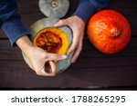 Hollowing Out A Pumpkin To...