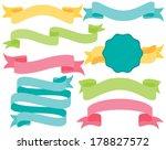 easter ribbon banners | Shutterstock .eps vector #178827572