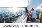 Sea Cruise. Family Sitting On...