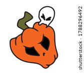 funny pumpkin with a ghost.... | Shutterstock .eps vector #1788296492