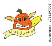 funny pumpkin with wings and a... | Shutterstock .eps vector #1788297005
