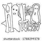 "vector sign ""halloween"" with a... 