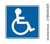 disabled icon. vector...   Shutterstock .eps vector #1788300305