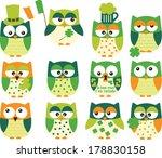 st patrick's day owls | Shutterstock .eps vector #178830158