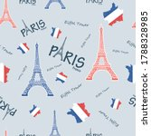 eiffel tower france symbol... | Shutterstock .eps vector #1788328985
