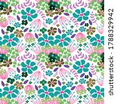 colorful floral seamless... | Shutterstock .eps vector #1788329942
