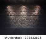 an old brick wall illuminated... | Shutterstock . vector #178833836