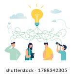 vector illustration  tangled... | Shutterstock .eps vector #1788342305