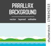 sea waves parallax background...