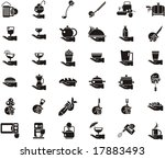 busy hands icons   food and...   Shutterstock .eps vector #17883493