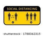 social distancing warning... | Shutterstock .eps vector #1788362315