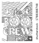 the boo crew coloring book... | Shutterstock .eps vector #1788388748