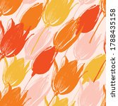 tulip flowers seamless pattern... | Shutterstock .eps vector #1788435158