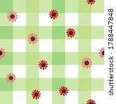 seamless gingham pattern with... | Shutterstock .eps vector #1788447848