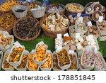 Edible Mushrooms Variety At...