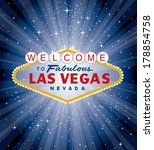 vector las vegas sign over the... | Shutterstock .eps vector #178854758