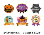 halloween materials label ... | Shutterstock .eps vector #1788555125