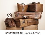 collection of leather suitcases ... | Shutterstock . vector #17885740