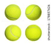 tennis ball collection isolated ... | Shutterstock . vector #178857626