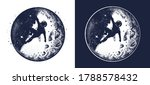 astronaut and moon tattoo and t ... | Shutterstock .eps vector #1788578432