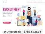 a head hunter agent hiring... | Shutterstock .eps vector #1788582695