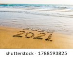 Happy New Year 2021 Text On The ...