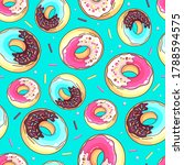 seamless pattern with colorful... | Shutterstock .eps vector #1788594575