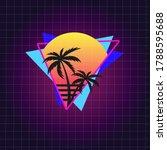 retro 80's vector illustration...   Shutterstock .eps vector #1788595688