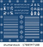 Knit Font And Xmas Elements ....