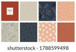 trendy seamless patterns set.... | Shutterstock .eps vector #1788599498