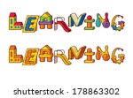 Word Learning. Letters Made Of Toys - stock vector