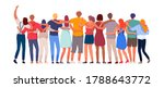 happy people. diverse multi... | Shutterstock .eps vector #1788643772