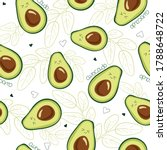 vector seamless pattern with... | Shutterstock .eps vector #1788648722