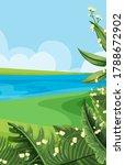 empty nature scenes with river... | Shutterstock .eps vector #1788672902