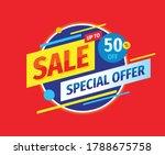 sale   concept banner vector... | Shutterstock .eps vector #1788675758
