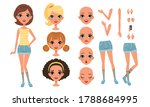 cute girl constructor for... | Shutterstock .eps vector #1788684995