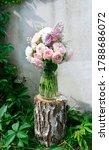 A Romantic Photo With A Bouquet ...