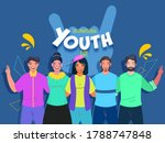 cheerful young people together... | Shutterstock .eps vector #1788747848