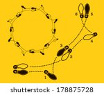 polka dance steps  | Shutterstock .eps vector #178875728