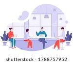 office employees wear face mask ... | Shutterstock .eps vector #1788757952