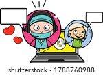cartoon surgeon online calling... | Shutterstock .eps vector #1788760988