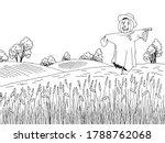 Field Scarecrow Graphic Black...