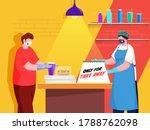 shopper and customer man wear... | Shutterstock .eps vector #1788762098
