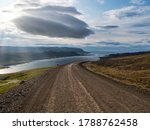 Gravel Road With Dramatic...